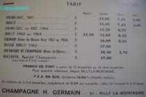 Germain tarif 1969