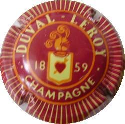 DUVAL-LEROY  Rouge foncé avec 1859 n°3