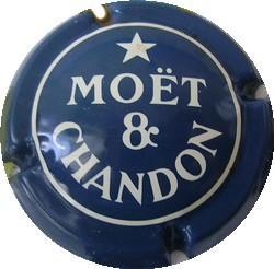 Ancienne MOËT & CHANDON  n°169 Bleu foncé et Blanc
