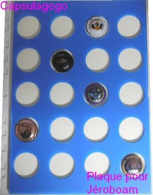 Plaque autocollante jeroboam bleu