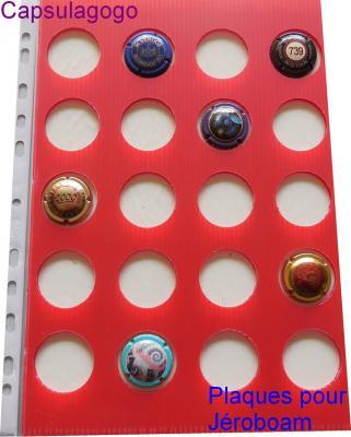 Plaque autocollante jeroboam rouge