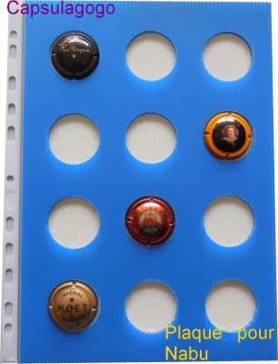 Plaque autocollante nabu bleu