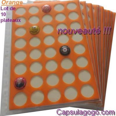 Plaques autocollantes orange 2