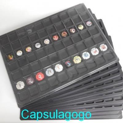 Plateaux 70 cases noir