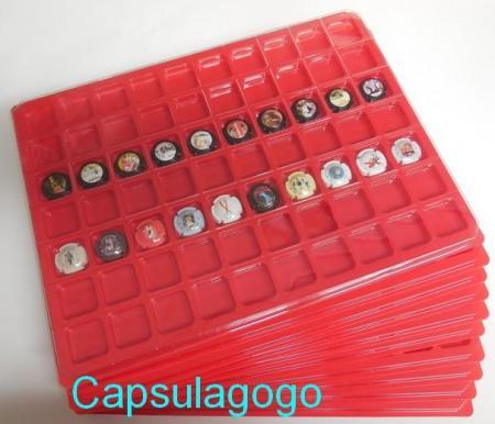 Plateaux 70 cases plastique